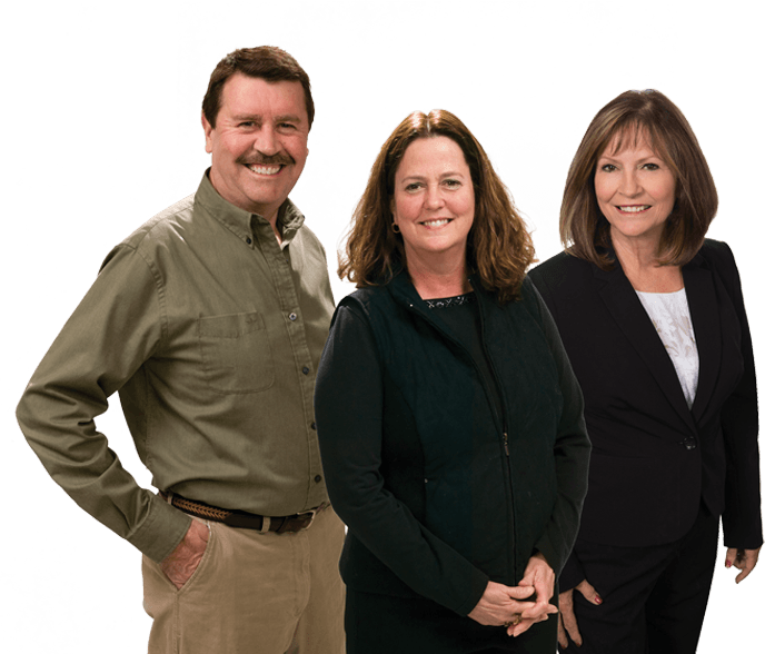 Bill Grunewald, Joan Grunewald and Kathy Nygard of Up North Properties