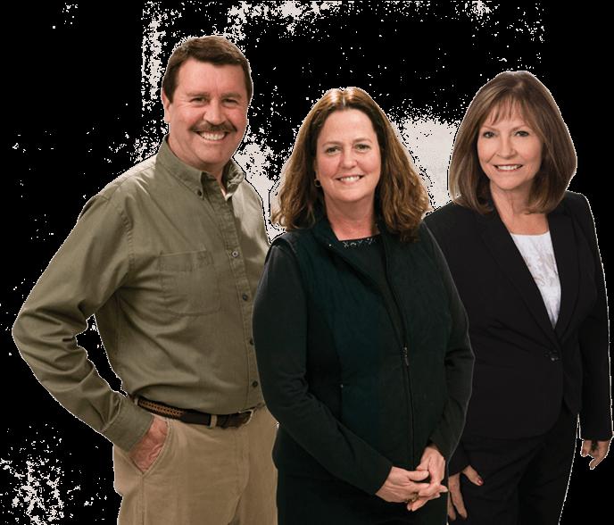 Bill Grunewald, Joan Grunewald and Kathy Nygard of Up North Properties
